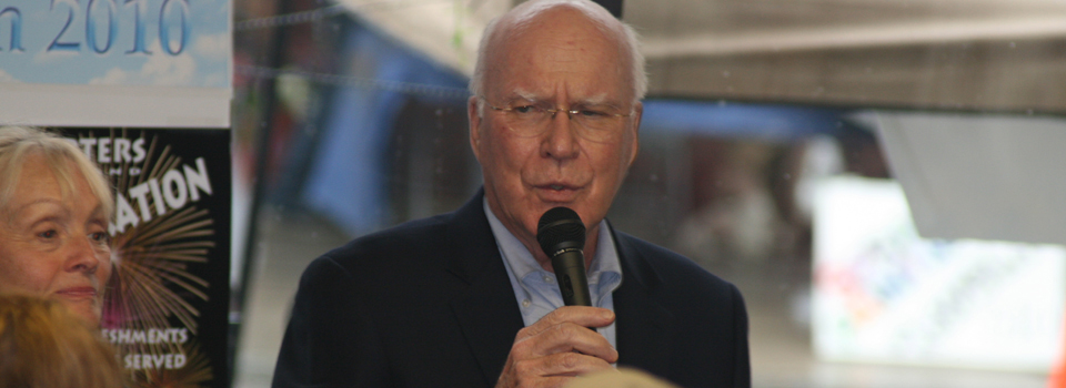 National leaders: Senator Leahy (above), Senator Sanders, and Rep. Welch have helped shape national policy and fought to improve the lives of Vermonters