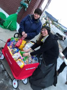 Beth Pearce and Heather at the Halloween parade